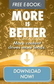 Free E-Book: More is better. More content drives more leads. Download the ebook now.