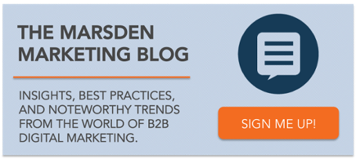 Subscribe to Marsden Marketing's Digital Marketing Blog