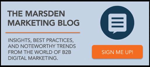 Subscribe to Marsden Marketing's Digital Marketing Blog