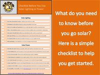 Solar Checklist CTA