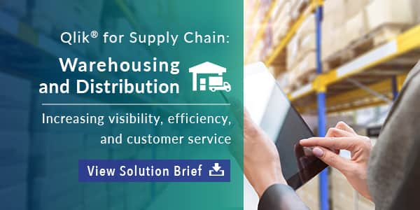 Solution Brief - Qlik for Supply Chain - Warehousing and Distribution