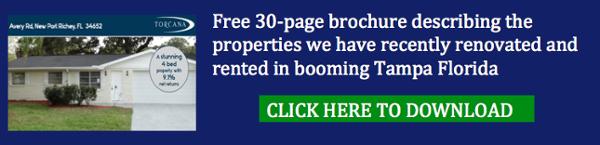 Tampa Florida rental properties: Free 30 page brochure