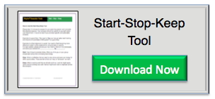Rhythm Systems Start - Stop - Keep Tool for Annual Planning