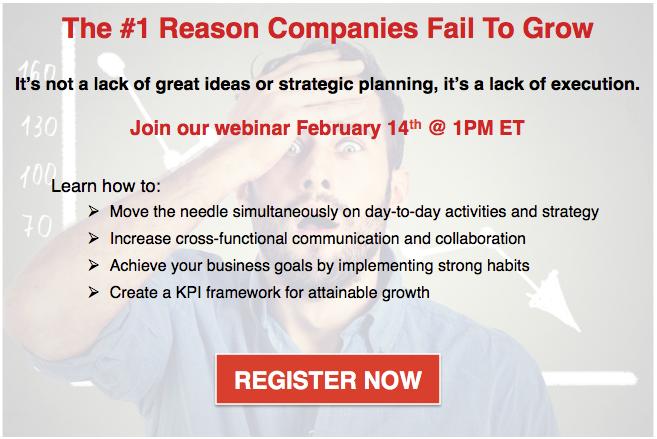 Webinar: The #1 Reason Companies Fail To Grow