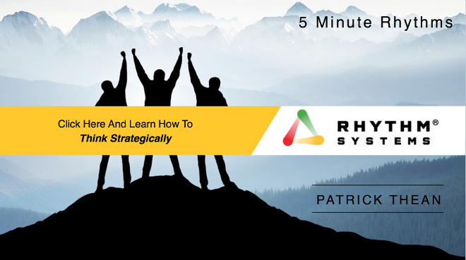 Watch this 5 Minute Rhythm by Patrick Thean to Learn how to Think Strategically