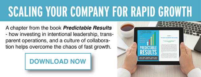 Predictable Results Scaling Your Company for Rapid Growth