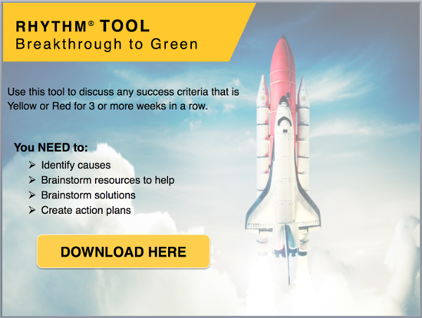 Breakthrough to Green Tool - get your Yellow and Red Success Criteria back to Green
