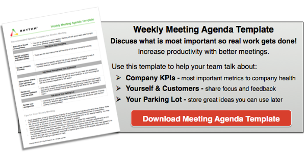 Have adjustment meetings instead of status meetings - download our weekly meeting agenda template