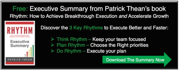 Executive Summary from Patrick Thean's book Rhythm