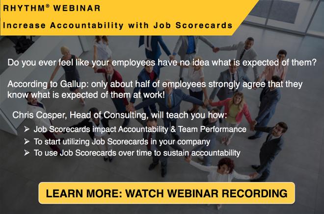 Watch the Job Scorecard webinar and increase accountability in your organization!