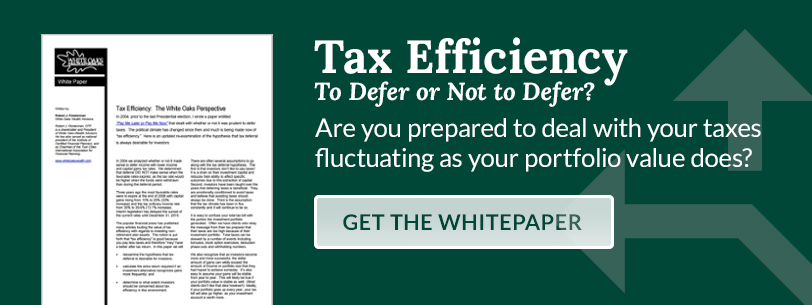 Tax Efficiency: The White Oaks Perspective