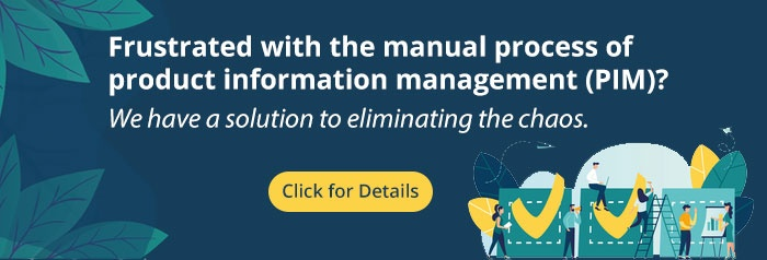 manual process of product information management