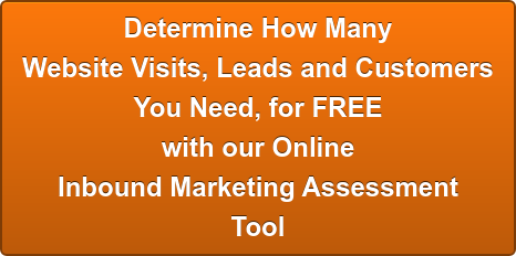 Determine How Many  Website Visits, Leads and Customers  You Need, for FREE  with our Online  Inbound Marketing Assessment Tool