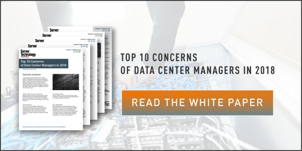 "click to download the white paper ""Top 10 Concerns of Data Center Managers in 2018"""