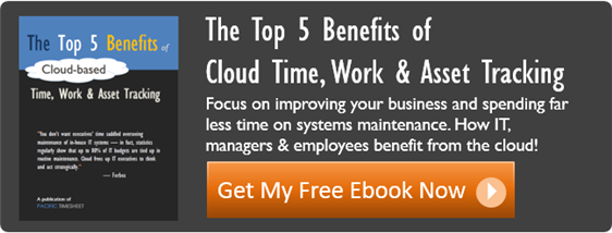 top 5 benefits of cloud time, work and asset tracking