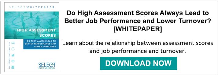 assessment scores