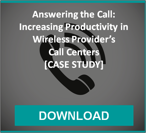 Answering the Call: Increasing Productivity in Wireless Provider's Call Centers