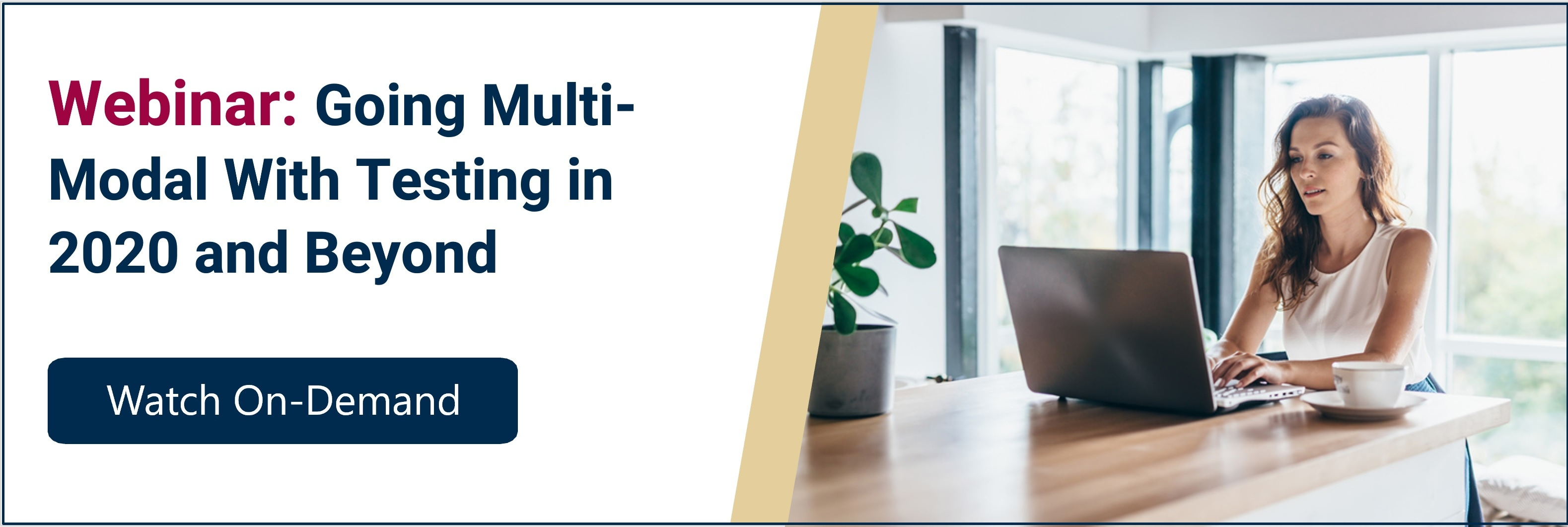 Multi-Modal Testing Webinar 2020 and Beyond