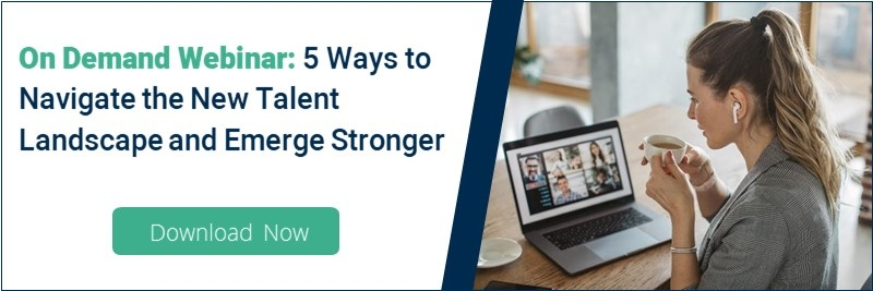 webinar button for 5 ways to navigate the new talent landscape and emerge stronger