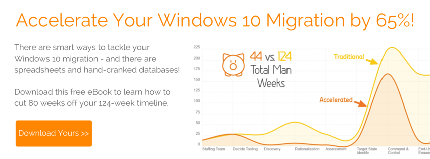 Click here to accelerate your Windows 10 Migration ebook