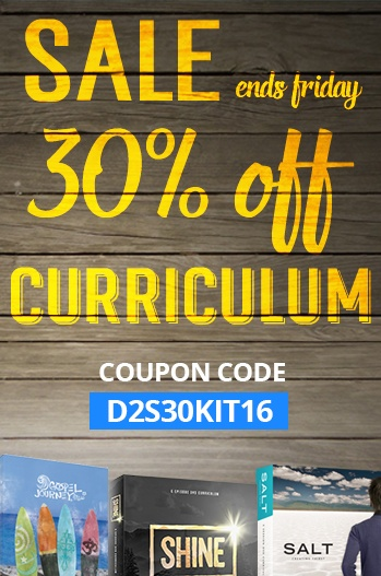 Get 30% off all Dare 2 Share Curriculum