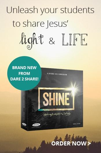 Unleash your students to share Jesus' light & life