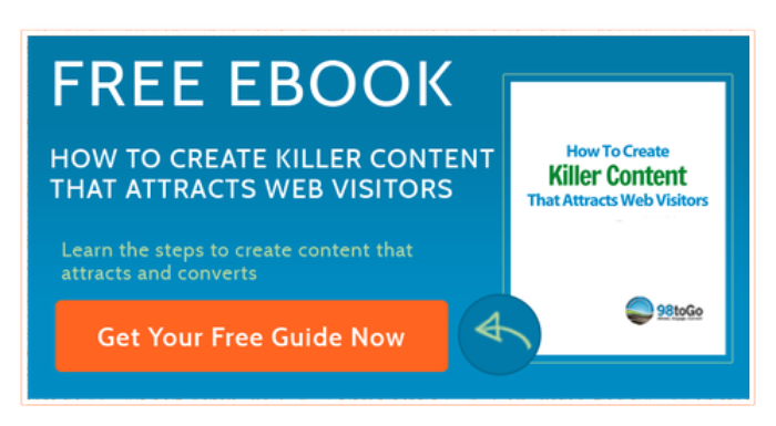 how to create killer content that attracts web visitors ebook button