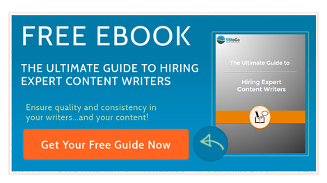 Grab a free copy of The Ultimate Guide To Hiring Expert Content Writers