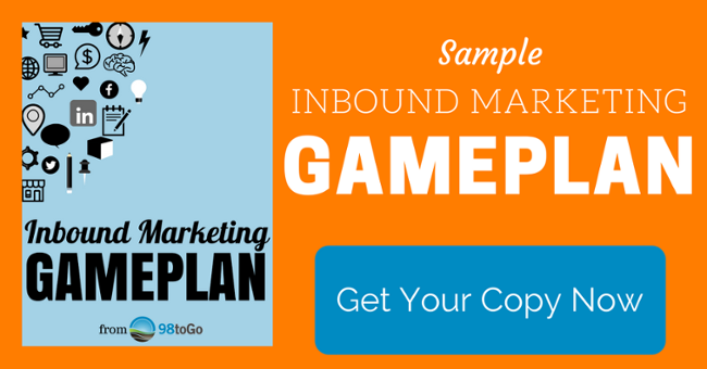 Inbound Marketing GamePlan from 98toGo
