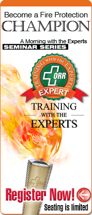 Fire protection training ORR Protection experts seminar Champion Seminar