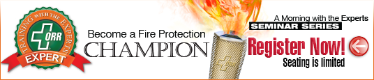 Fire protection training seminar ORR Protection experts