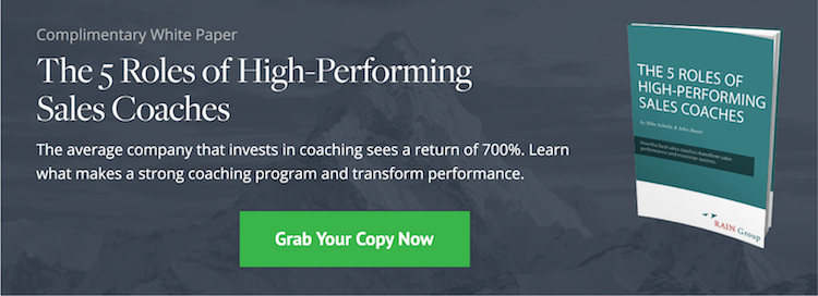 White Paper: The 5 Roles of High-Performing Sales Coaches White Paper