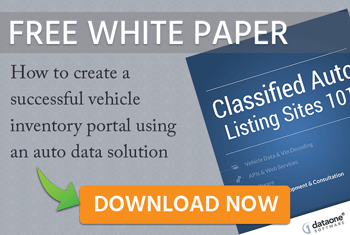 dataone software classified auto listings white paper