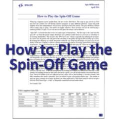How to Play the Spin-Off Game