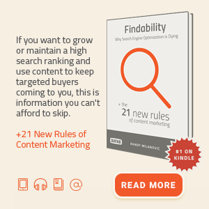 Findability: content marketing ebook