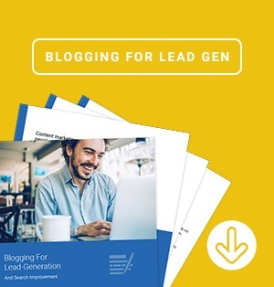 blogging for lead generation too