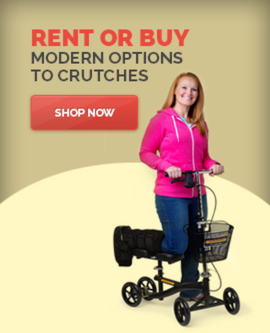 safe modern stable option to crutches turning knee walker scooter roll-a-bout orthopedic leg rental