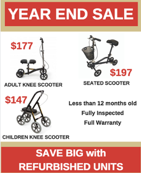 Sales save knee scooter walker seated childrens