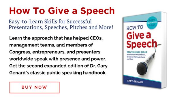How to Give a Speech by Gary Genard