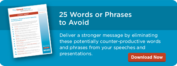 words and phrases to avoid in speeches