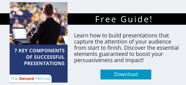 Dr. Gary Genard's free white paper, The 7 Key Components of Successful Presentations.