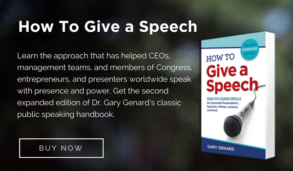 How to Give a Speech by Gary Genard