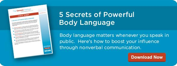 Tips on Body Language for Public Speaking