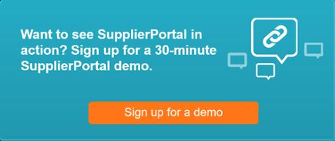 SupplierPortal demo sign up