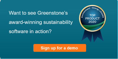 Greenstone award winning sustainability software - demo sign up