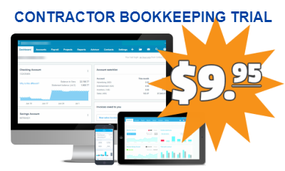 Contractor Bookkeeping Trial For $9.95