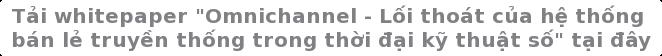 """Tảiwhitepaper """"Omnichannel - Lối thoát của hệ thống  bán lẻ truyền thống trong thời đại kỹ thuật số"""" tại đây"""
