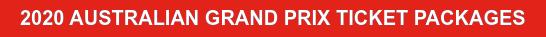2020 AUSTRALIAN GRAND PRIX TICKET PACKAGES