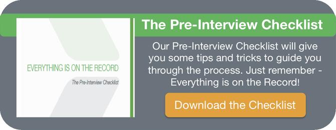 The Pre-Interview Checklist