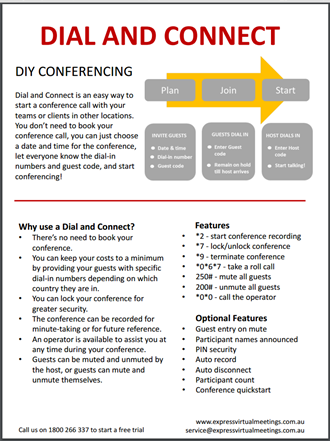 DIAL AND CONNECT USER GUIDE